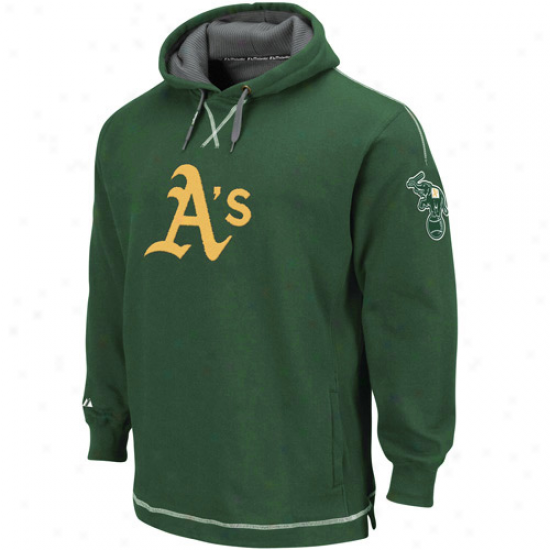 Oakland Gymnastics Hoodies : Majestic Oakland Athletics Green The Liberation Pullover Hoodies