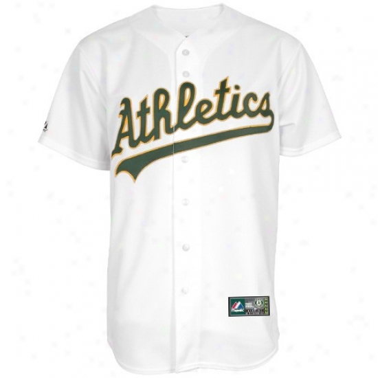 Oakland Athletics Jerseys : Majestic Oakland Athletics hWite Replica Baseball Jerseys