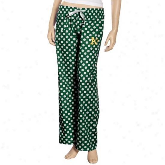 Oakland Athletics Ladies Green Galaxy Pajama Pants