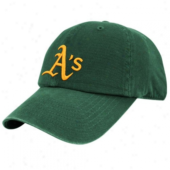 Oakland Athletics Merchandise: Twuns Undertaking Oakland Athletics Green Franchise Fitted Hat