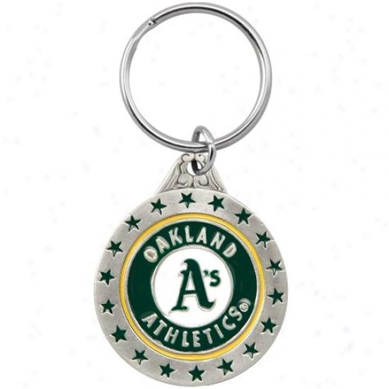 Oakland Athletics Mlb Pewter Logo Keychain