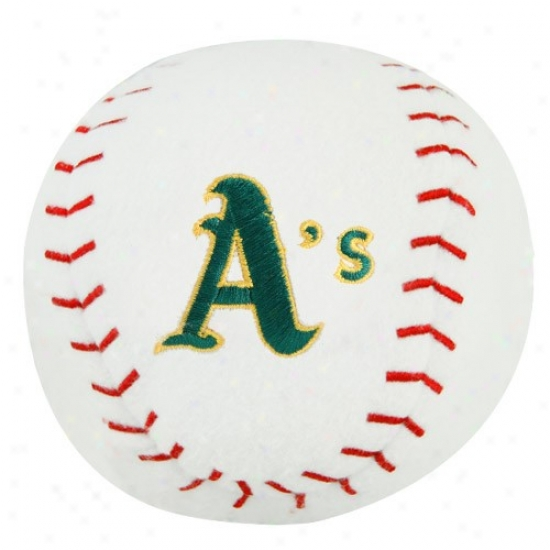 Oakland Athleticss Plush Team Baseball Rattle