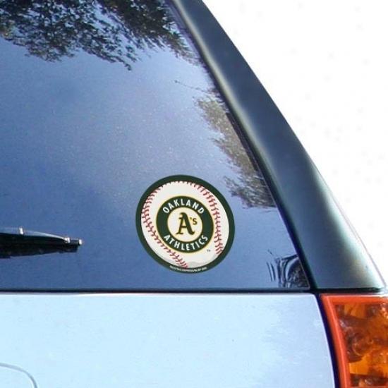 Oakland Athletics Circularly Vinyl Baseball Decal