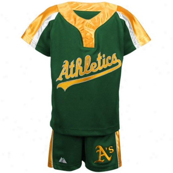 Oakland Athletics Tshirt : Majestic Oakland Athletics Toddler Green Batting Practice Jersey & Shorts Set