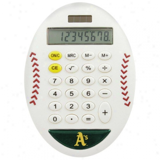 Oakland Athletics White Baseball Pro-grip Calculator