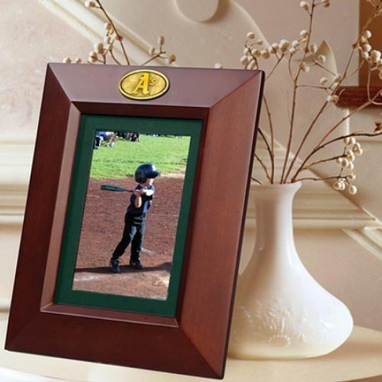 Oakland Athltics Wooden Vertical Picture Frame