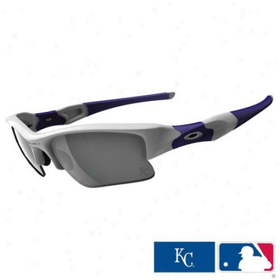 Oakley Kansas City Royals Navy Blue-gray Flak Jacket Xlj Sunglasses
