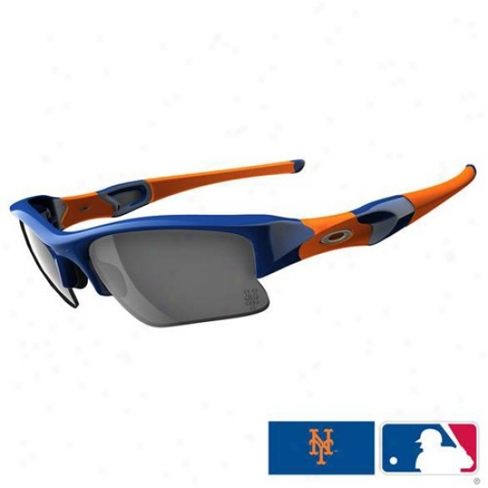 Oakley New York Mets Royal-blue-orange Flak Jacket Xlj Sunglasses