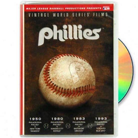 Philadelphia Phillies 1950, 1980, 1983 & 1993 Vintage World Series Films Dvd