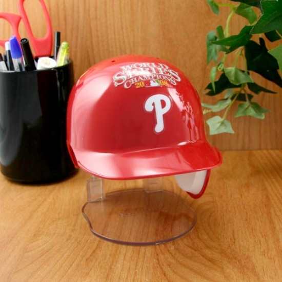 Philadelphia Phillies 2008 World Series Champions Mini Batter's Helmet