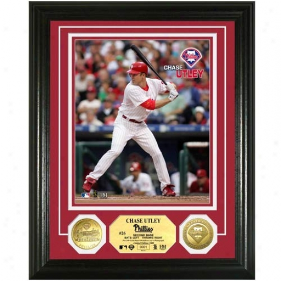 Philadelphia Phillies #26 Chase Utey 24kt Gold Coin Photo Mint