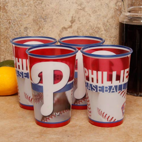 Philadelphia Phillies 4-pack 22ozz. Souvenir Cups
