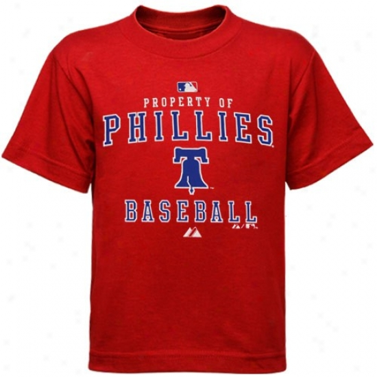 Philadelphia Phillies Apparel: Majestic Philadelphia Phillies Preschool Red Property Of T-shirt
