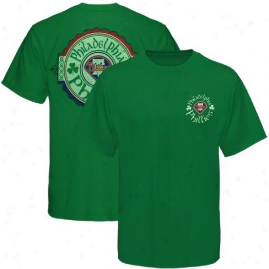 Pholadelphia Phillies Apparel: Majestic Philadelphia Phillies Youth Kelly Green Tried And True T-shirt