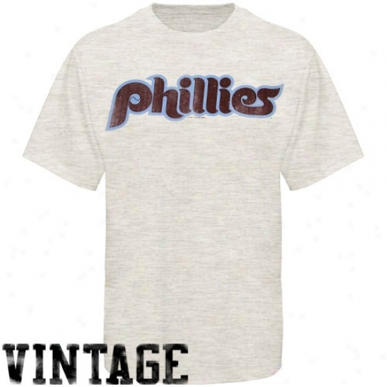 Philadelphia Phillies Attire: Banner '47 Philadelphia Phillies White Retro Burnout T-shirt
