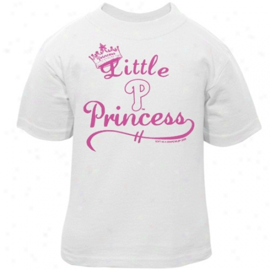 Philadelphia Phillies Attire: Philadelphia Phillies Toddler White Little Princess T-shirt