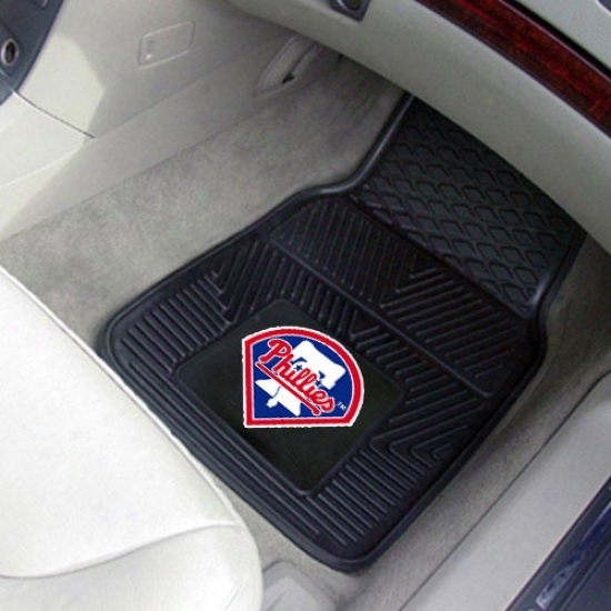Philadelphia Phillies Black 2-piece Vinyl Car Mat Set