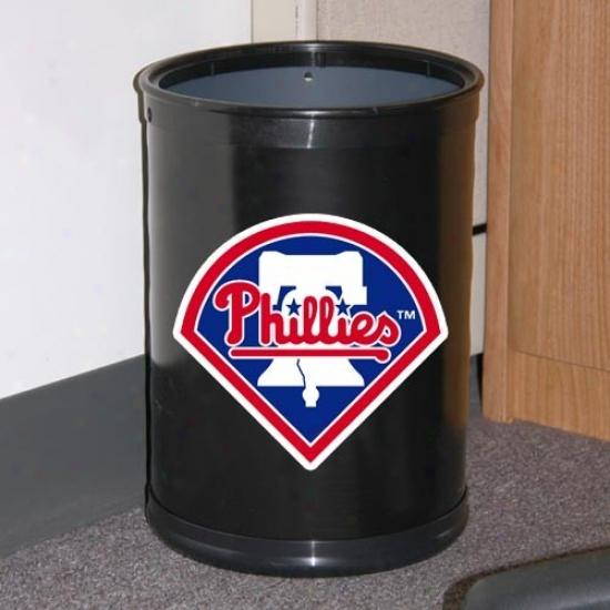 Philadelphia Phillies Black Team Wastebasket