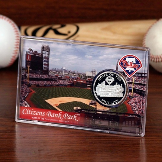 Philadelphia Phillies Citizens Bank Park Silver Plate Coin Card