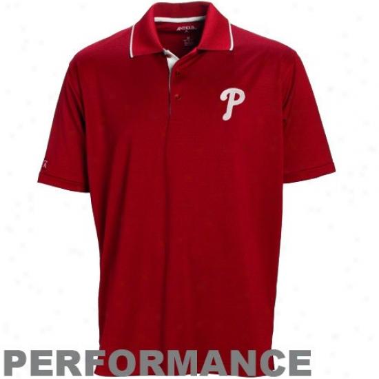 Philadelphia Phillies Clothes: Anfigua Philadelphia Phillies Red Impact Performance Polo