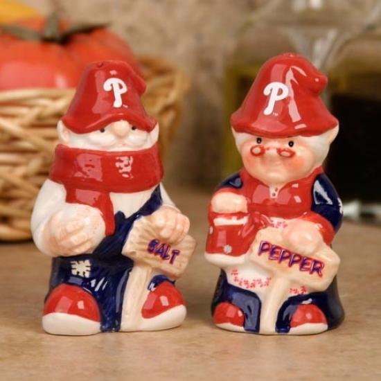 Phildelphia Phillies Gnome Salt & Pepper Shakers