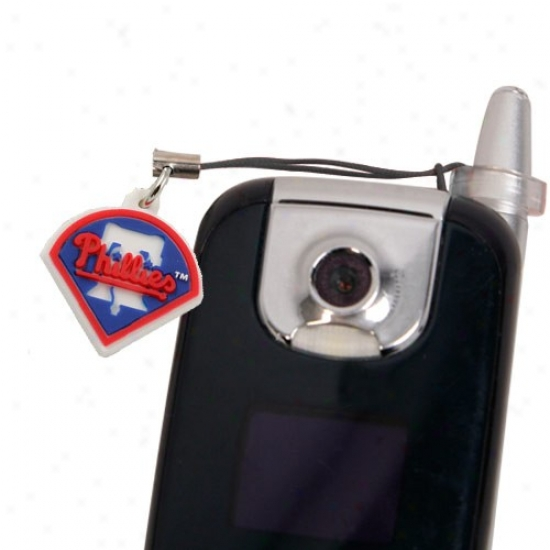 Philadelphia Phillies Hanging Cell Phone Charm