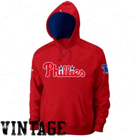 Philadelphia Phillies Hoodie : Majestic Phliadelphia Phillies Red Conquest Hoodie