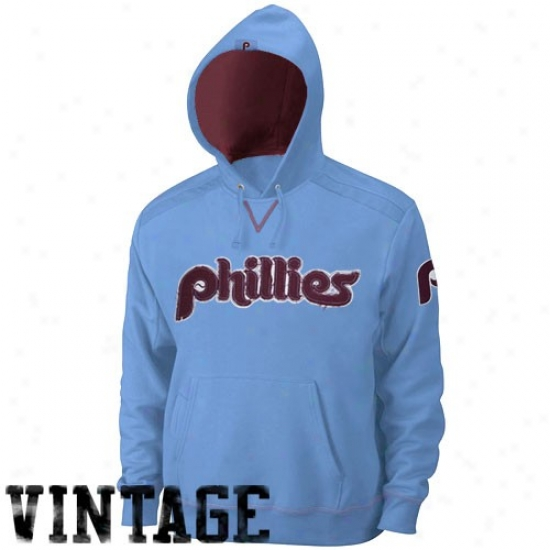 Philadelphia Phillies Hoodys : Majestic Philadelphia Phillies Light Blue Conquest Hoodys