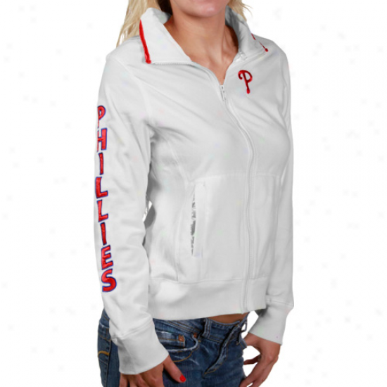 Philadelphia Phillies Hoodys : Philadelphia Phillies Ladies Pale Frost Full Zip Hoodys Jacket