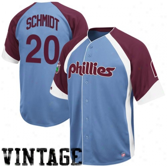 1925e52b9db ... Vintage Top Philadelphia Phillies Jerseys Majestic Philadelphia Phillies  20 Mike Schmidt Light Blue-maroon Wheelhouse ...