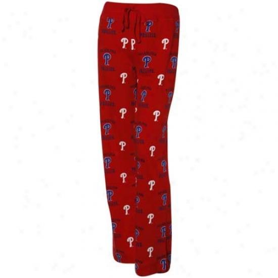 Philadelphia Phillies Ladiees Red Maverick Pajama Pants