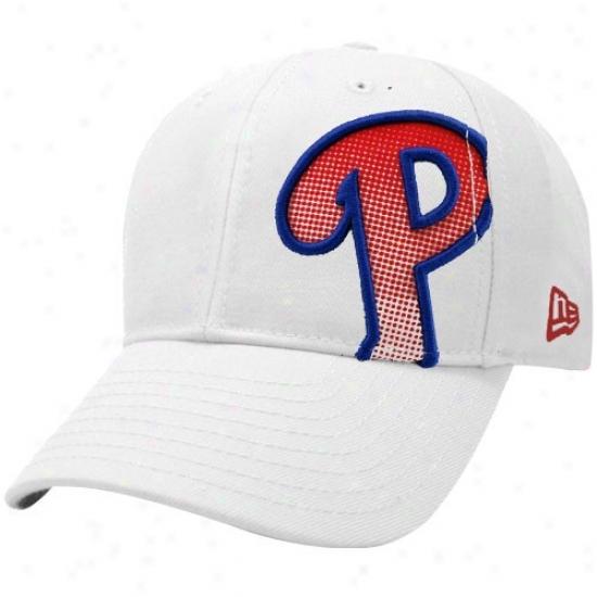 Philadelphia Phillies Merchandise: New Era Philadelphia Phillies White Dot Shimmer Flex Fit Hat
