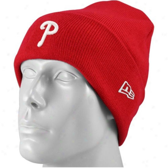 Philadelphia Phillies Merchandise: New Era Philadelphia Phillies Youth Red Cuffed Join Beanie