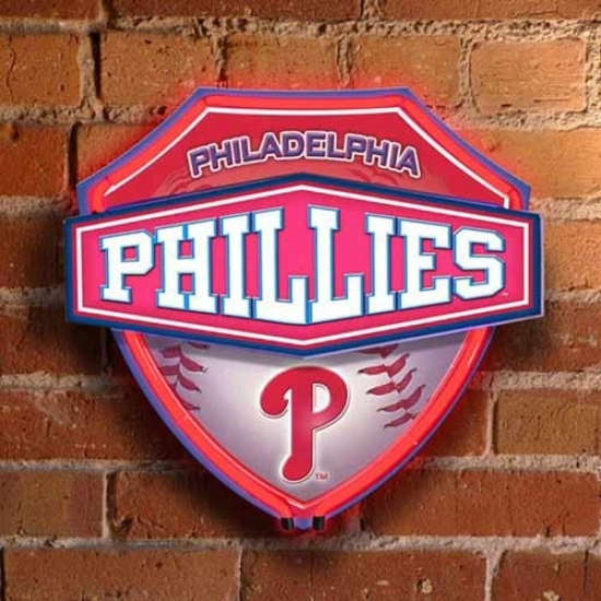 Philadelphia Phillies Nein Shield Wall/window Lamp