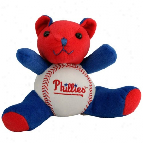Philadelphia Phillies Plush Team Colors Baswball Speculator on a fall