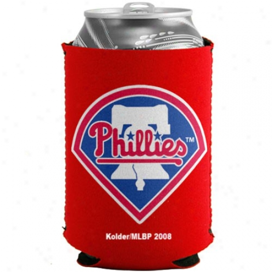 Philadelphia Phillies Red Collapsible Can Coolie