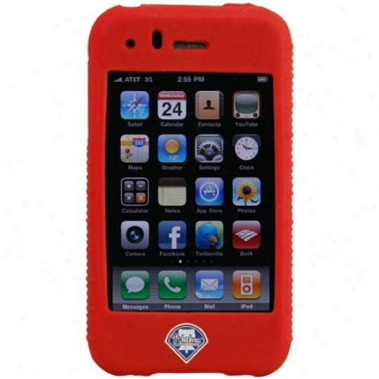 Philadelphia Phillies Red Mlb Silicone Iphone Cover