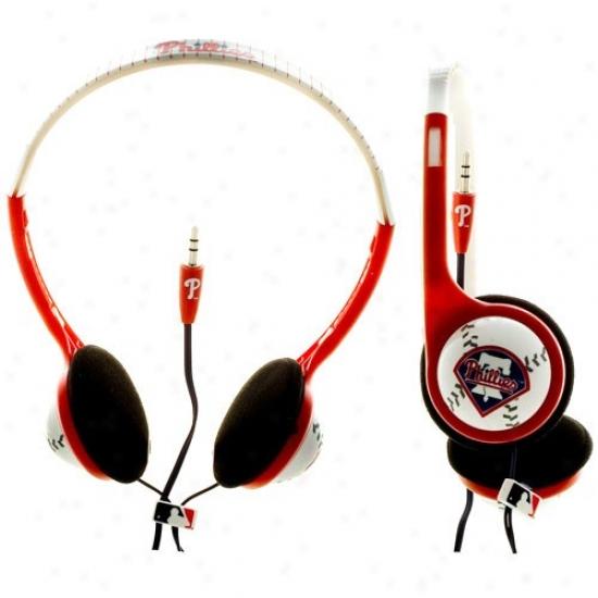 Philadelphia Phillies Red Team Logo Baseball Headphones
