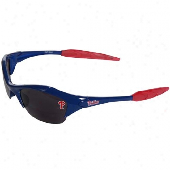 Philadelphia Phillies Royal Blue Mlb Half Frame Sport Sunglasses