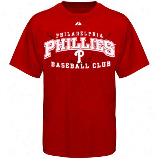 Philadelphia Phillies Snirts : Majestic Philadelphia Phillies Red Monster Play Shirts