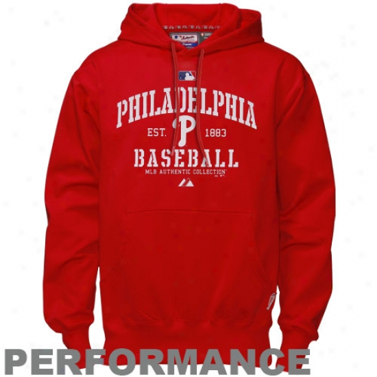 Philadelphia Phillies Sweat Shirt : Majestic Philadelphia Phillies Red Ac Classic Therma Bawe Performnace Sweat Shirt