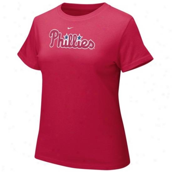 Philadelphia Phillies Tee : Nike Philadelphia Phillies Rec Ladies Authentic Crew Tee