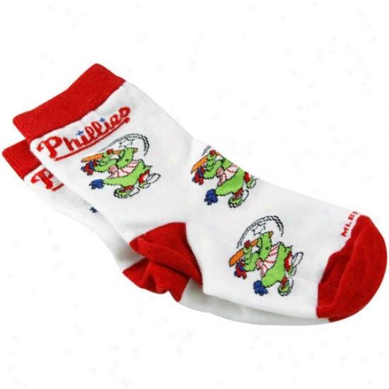 Philadelphia Phillies Toddler White Mascot Socks