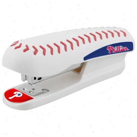 Philadelphia Phillies White Pro-grip Baseball Stapler