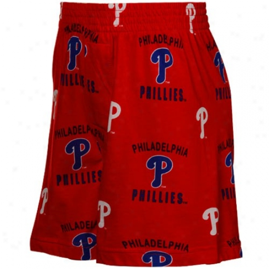 Philadelphia Phillies Youth Red Maverick Boxer Shorts