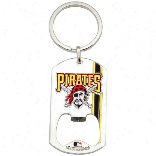 Pittsburgh Pirates 2010 Dog Tag Bottle Opener Keychain