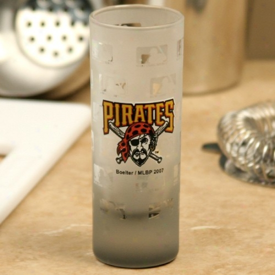 Pittsburgh Pirates 2.5oz Frosted Cordial Shoy Glass