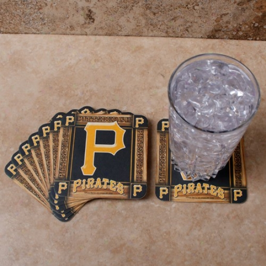 Pittsburgh Pirates 8-pack Absorbent Paperkraft Coasters