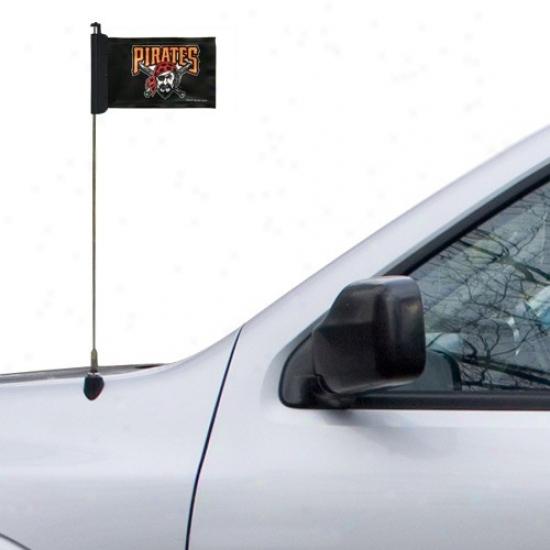 Pittsburgh Pirates Banner : Pittsburgh Pirates Black Antenna Banner