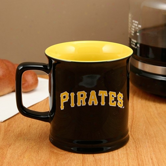 Pittsburgh Pirates Black 11oz. Ceramic Sculpted Mug